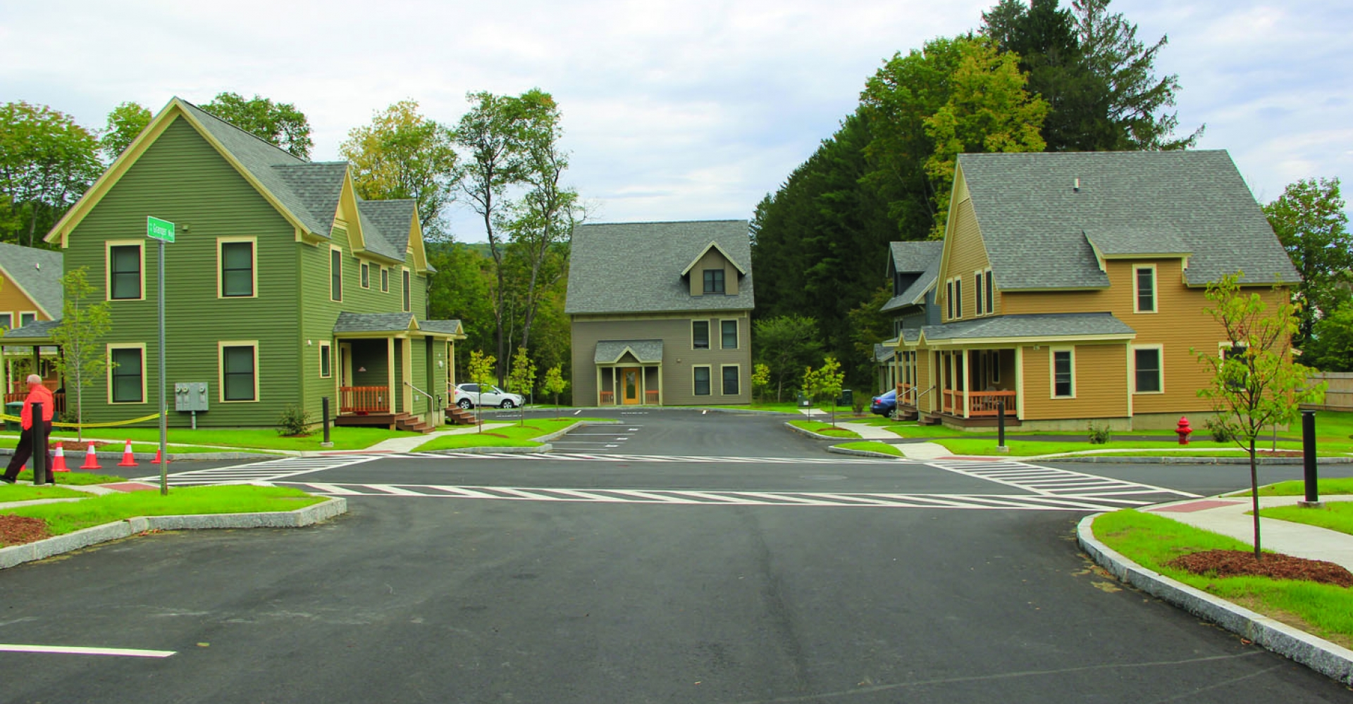Safford Commons, Woodstock - family rental housing developed by Twin Pines Housing and Housing Vermont