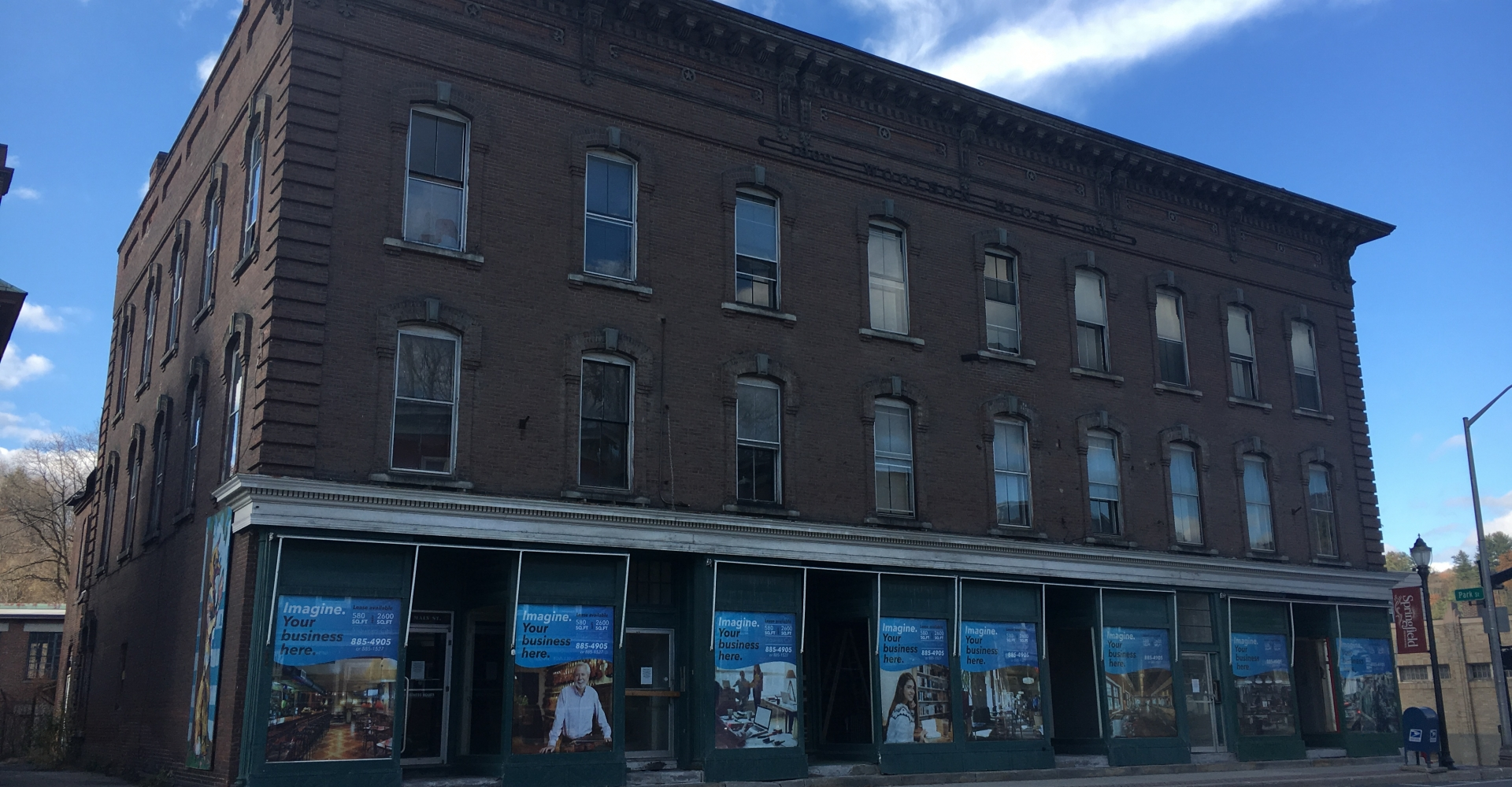 Woolson Block, Sprinfield - historic downtown building with 20 new apartments and 4 units service-supported transitional housing for at risk young adults with a live-in supervisor, developed by Springfield Housing Authority and Housing Vermont