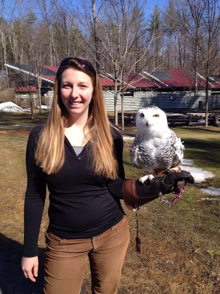 Ashley with Snowy Owl