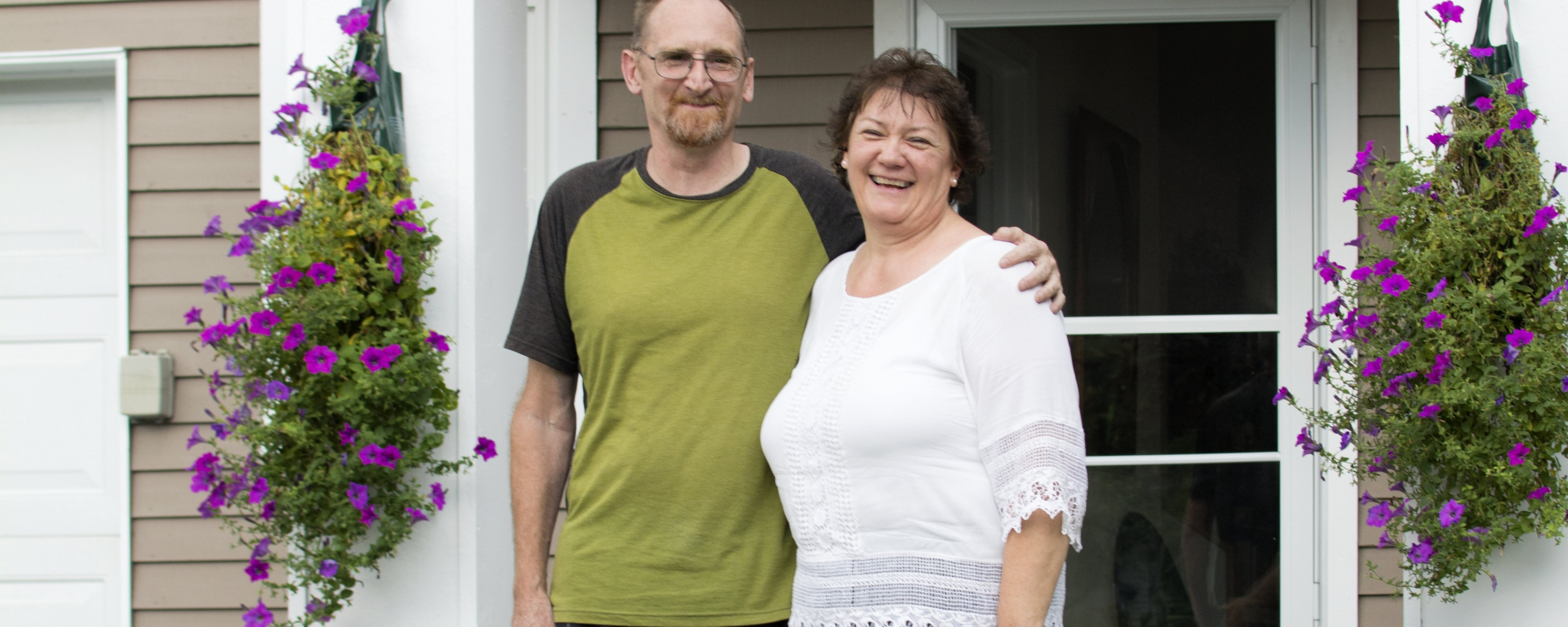 Karleen and Alan were able to buy a condo they had been renting for many years.